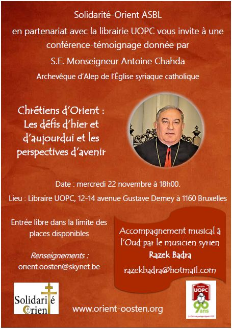 affiche conférence Mgr Chada